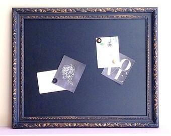 Black Framed KITCHEN CHALKBOARD Black and Gold Decor Distressed Blackboard Wedding Chalkboard Sign Framed Magnetic Chalkboard Organizer