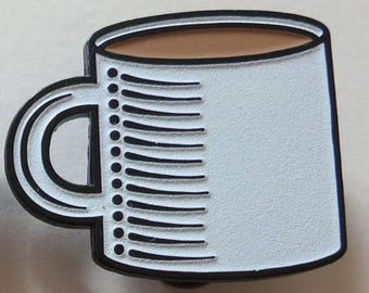 Coffee Cup (Glow-in-the-Dark) - Enamel Pin