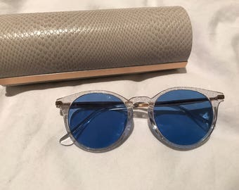 Jimmy Choo x Fuso 100% Genuine Product, glitter frame, brand new with blue lenses complete with Packaging vintage