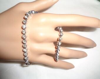Art Deco Bezel Set Rhinestone Tennis Bracelet 1940s ERA Jewelrybybadabling  Young Ladies Prom Date Dainty
