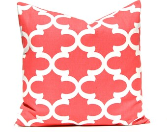 Coral Pillow Cover, Decorative Pillow Cover, Throw Pillow Cover, Coral Pillow, Toss Pillow, Pillow Shams, Accent Pillow Cover