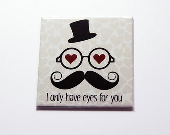 I only have eyes for you Magnet, Fridge magnet, Gift for her, Gift for girlfriend, Valentine Gift, Love, Funny magnet, purple (7241)