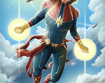 "Captain Marvel - Limited Edition 33""x22"" poster print /25"