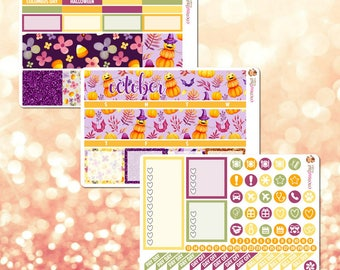 October Monthly Kit, Monthly View Sticker Kit for Erin Condren Life Planner - 107 stickers!