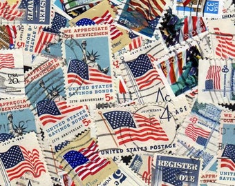 50 US Flag Stamps, US Stamps,us Postage Stamps,Stamps,Postage Stamps,United States Stamps,Flag Stamps,USA Stamps, Patriotic Stamps, Collages