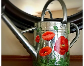 Poppy Large galvanized Watering can