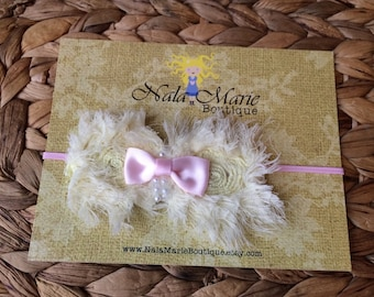 Pale Pink & Yellow Headband