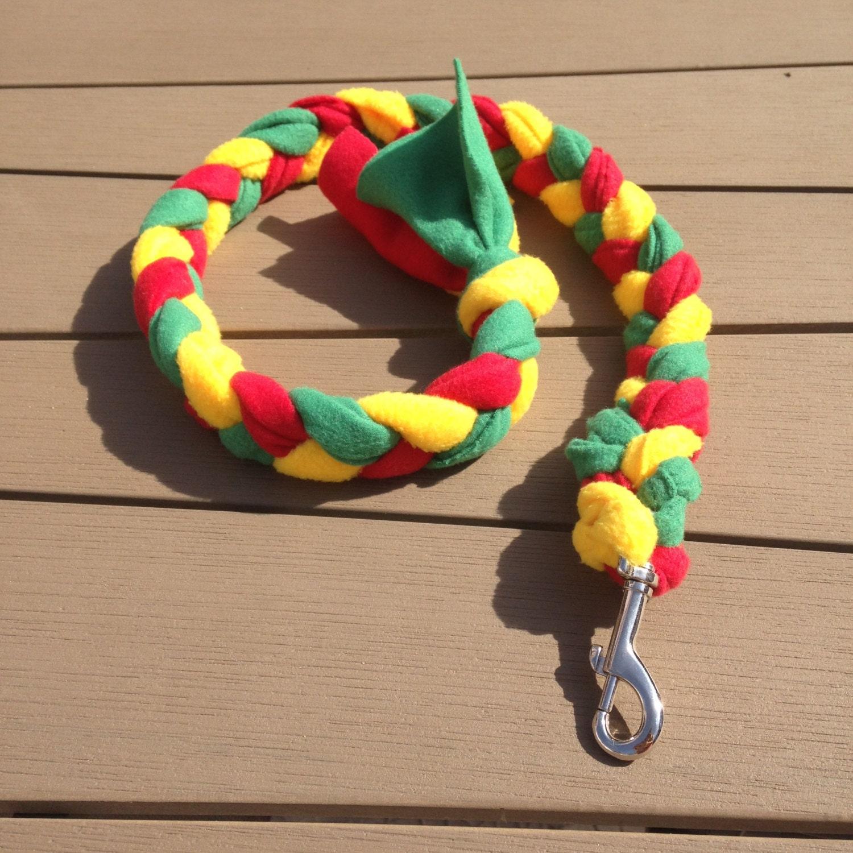 Dog Tug Toy Agility: Fleece Dog Tug Leash / Toy / Agility / Flyball