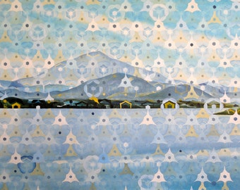 Mount Tamalpais from Larkspur - giclee print on paper or canvas