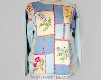 Vintage Tulchan 100% Pure Cotton Sweater - circa 80s/90s