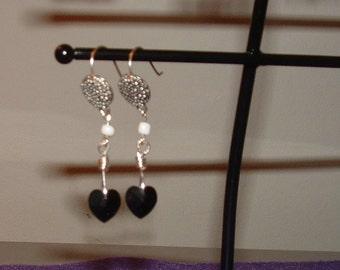 Black Hearts (Earrings)