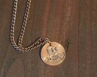 Penny Necklace- Initial Penny Jewelry - Anniversary Gift- Wife Nevklace- Girlfriend Necklace- Penny Jewelry