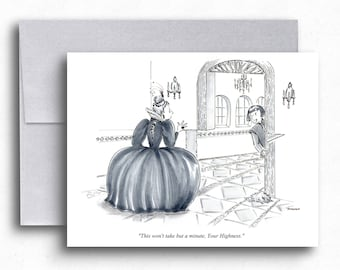 Renaissance Cartoon Greeting Cards Funny Renaissance Dress Blank Cards Humorous Art Renaissance Renovations Funny Greetings Gifts for Her