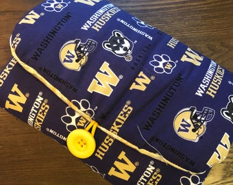 University of Washington -  Hand-crafted Travel Changing Pad  – Diaper Clutch