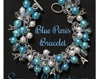 Blue Paris Bead Bracelet