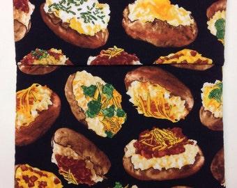Potato Bag with Baked Potato Print