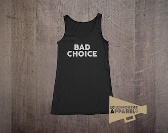 Bad Choice Womens Vest Tank Top