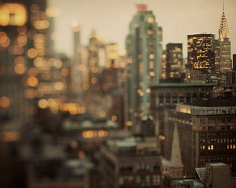 NYC Skyline, New York Art Print, New York Photography Print, Fine Art Photography, Gold, Chrysler Building - City of Glass