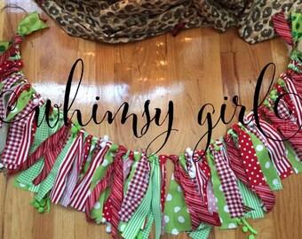 Christmas Fabric Rag Banner
