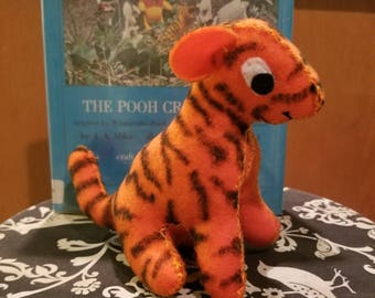 Little felt tigger stuffed toy