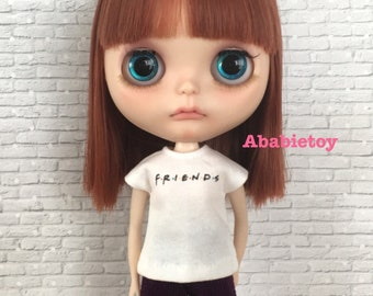 White Graphic T-Shirt for Blythe - Friends