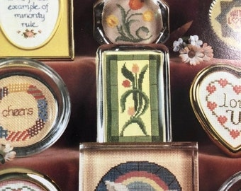 SUMMERSALE Vintage 1982 Little Treasures A Potpourri for Paperweights, Frames, and Coasters. June Grigg designs Book 17