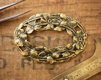 French Brass Frame | Vintage French Frame | Oval Ornate Frame | Floral Oval Frame | Antique Gold Frame | Vintage Frame | Set Of 4 | M12