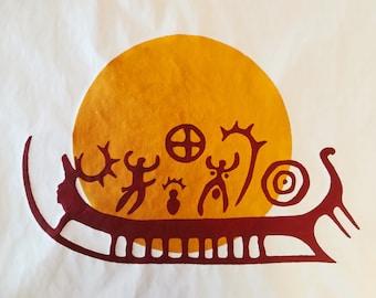 The Sun Boat II - Serigraphy