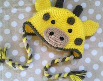 PATTERN Giraffe Baby Infant Hat PDF crochet pattern In english fits babies 0-3 months great photo prop