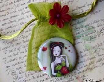 Pocket mirror Miss coquelicot