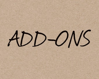 ADD-ONS > Cards & Signs