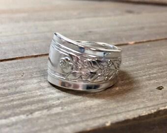 Spoon ring, Rosalie silverware ring, spoon jewelry,Rosalie 1938, Rosalie silverware, Boho ring, 1938 ring, Rosalie spoon ring, spoon ring