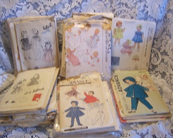 Vintage 1940's 1950's Childrens Patterns