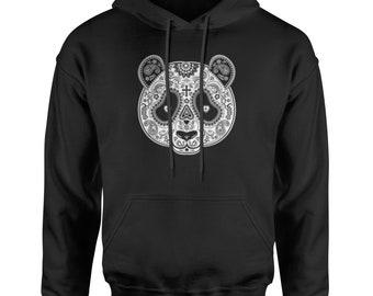 Panda Mandala Adult Hoodie Sweatshirt