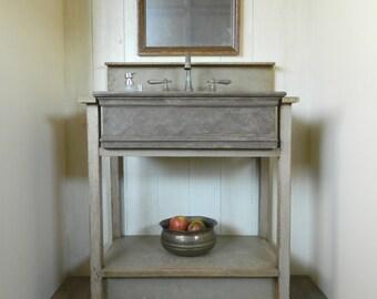 ON SALE - Drop-in Farm Sink Bathroom Vanity