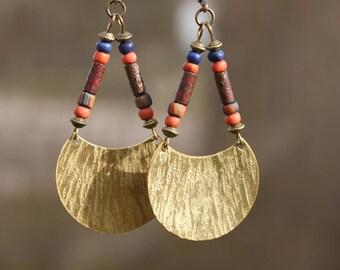 Bohemian Jewelry Boho Jewelry Boho Earrings Bohemian Earrings Long Dangle Earrings Drop Earrings Brass Earrings Long Earrings Ethnic Gypsy