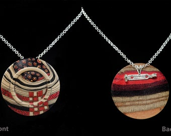Wood Pendant With Archival Inks