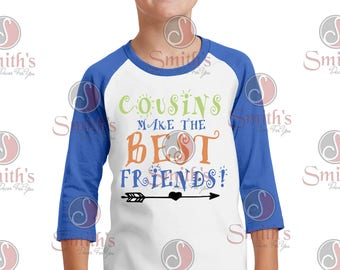 Cousins makes the Best Friends quarter sleeve tee