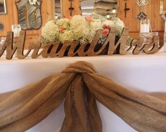 Mr & Mrs Wedding Table Decoration