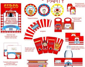 Circus printable party