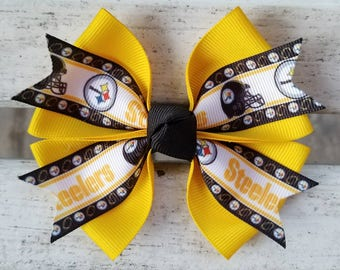 Steelers Hair Bow (4 inch)