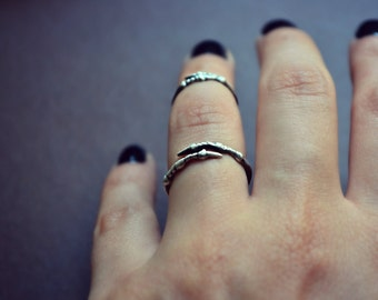Gothic Raven Claw Ring Talon Ring Sterling Silver Macabre Creepy Jewelry