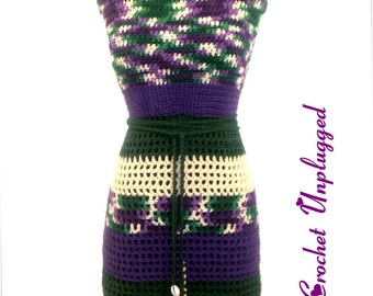 Sage Mary - Crocheted Apron-styled Halter Top - Ready-to-Ship