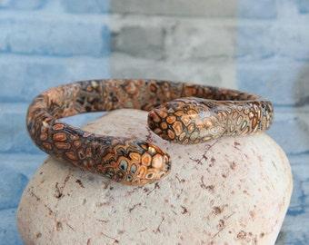 Cuff bracelet Snake bracelet Snake jewelry Womens cuff bracelet Gift for her Polymer clay jewelry Polymer clay bracelet Snake cuff bracelet