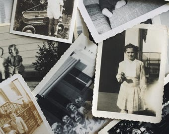 CHILDREN | Mystery Lot of Original Antique Black & White Photographs | Instant Collection | Quanity : 25