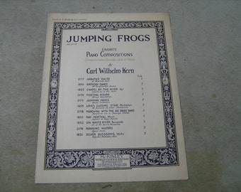 1926  sheet music (  jumping frogs  )