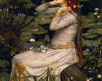 John William Waterhouse: Ophelia. Fine Art Print/Poster. (003600)