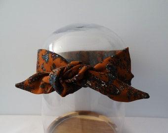 Woman Paisley tie headband