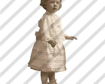 Digital Collage Sheet Larger Sepia Fairies (Sheet no.B6) Instant Download