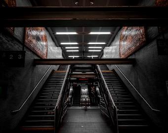 Fulton Street Subway Station Mezzanine - Manhattan/New York City (Wall Art Prints)